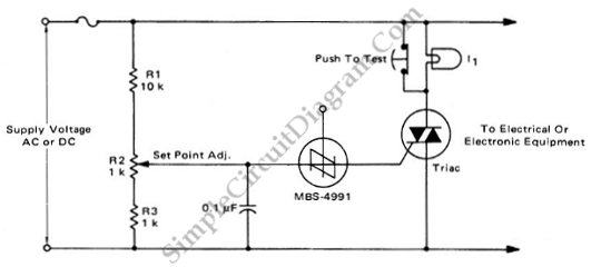 TRIAC Crowbar For AC Or DC Lines