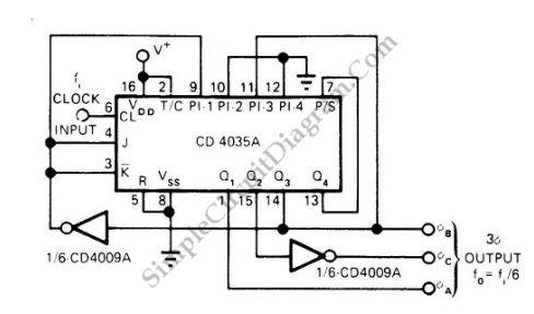 Pulse Generator Produces 3-Phase Output