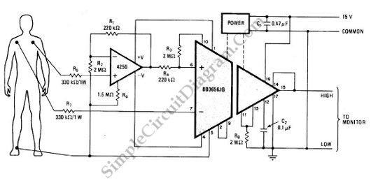 Heart Monitor (ECG Sensor Signal Amplifier/Conditioner