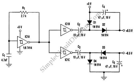 transformerless dc to symmetric dc converter