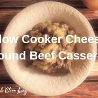 Slow Cooker Cheesy Ground Beef Casserole