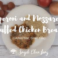 Pepperoni and Mozzarella Stuffed Chicken Breast