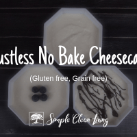 Crustless No Bake Cheesecakes