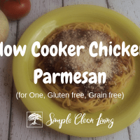 Slow Cooker Chicken Parmesan (Recipes for One)