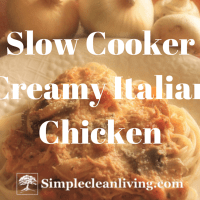 Slow Cooker Creamy Italian Chicken (Recipes for Two)