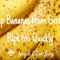 Keep Bananas from Getting Ripe Too Quickly