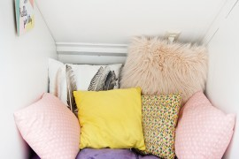 Simple colorful girls room