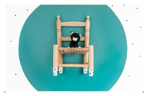 Children chair hanging on the wall