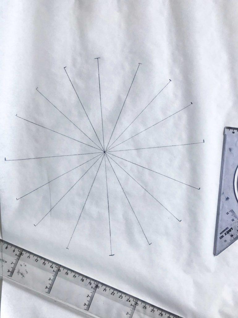 making circle pattern yoga bolster