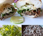 Mexican Torta with slow roasted pork and black beans