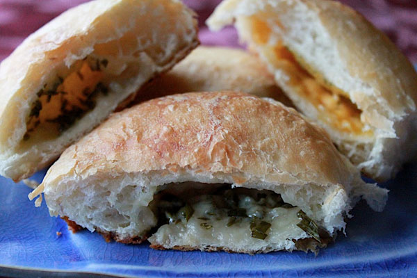 Cheese and Herb Stuffed Rolls