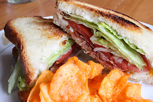SLT – Speck, Lettuce, and Tomato Sandwich
