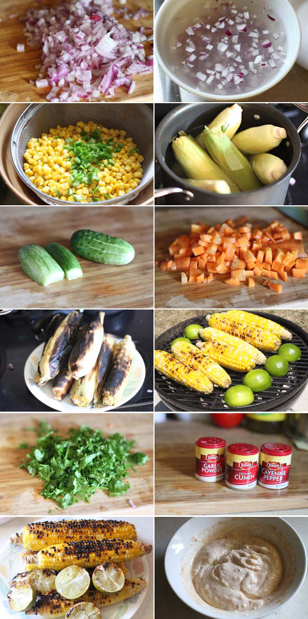 Ingredients for making Mexican Corn Salad