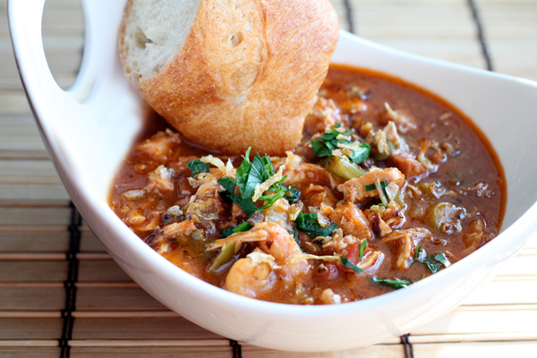 Chicken, Shrimp, and Andouille Sausage Gumbo Recipe
