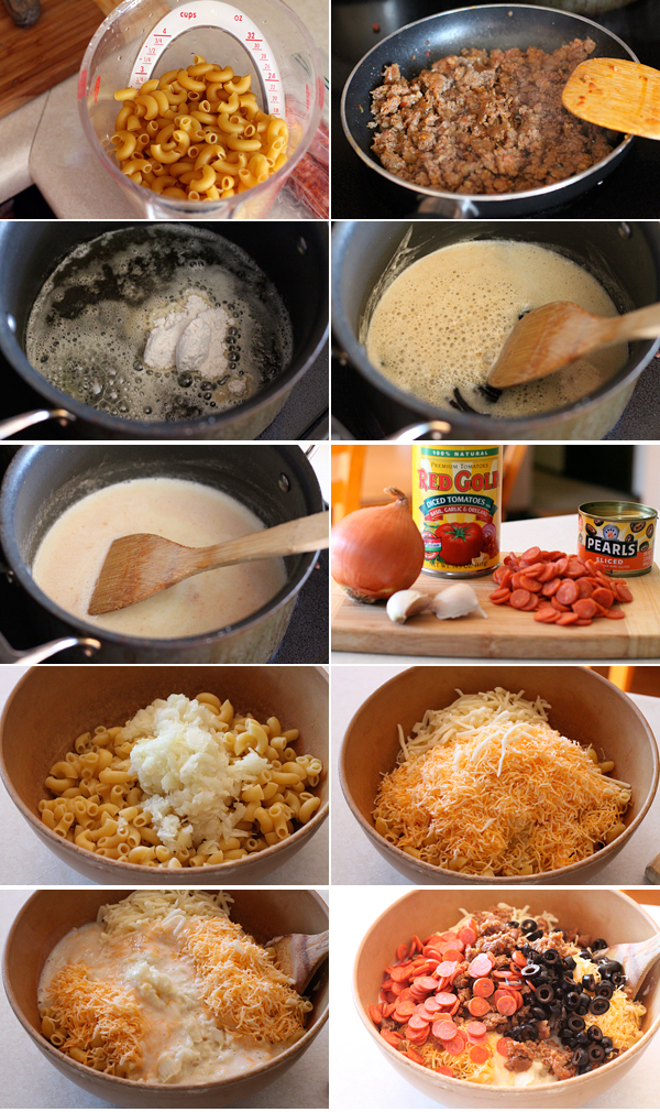 Loaded Pizza Mac and Cheese Ingredients