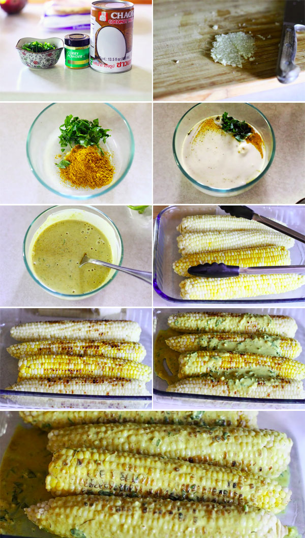 How to make coconut curry corn on the cob