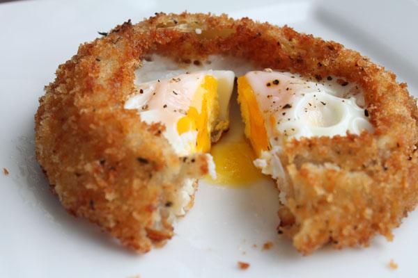 Fried Egg inside of an Onion Ring