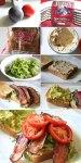 Bacon Lettuce Tomato Avocado and Hummus Sandwich