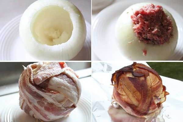 Barbecue Bacon Wrapped Onion Bomb