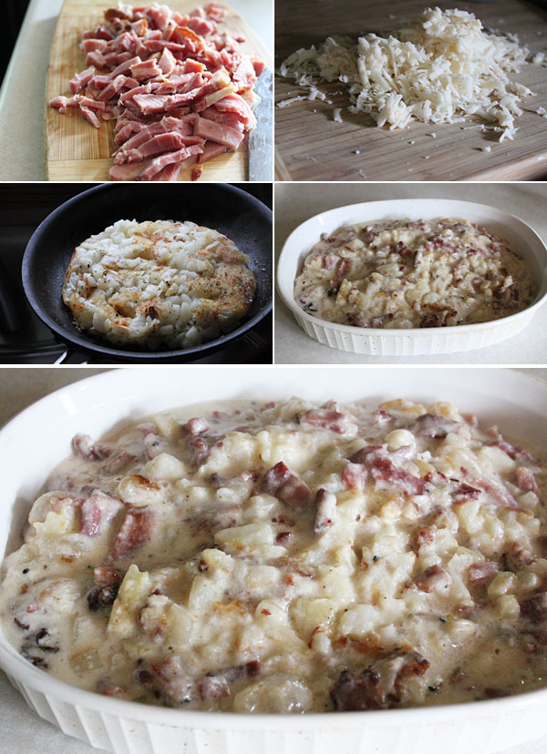 Ham, Cheese, and Potato Casserole