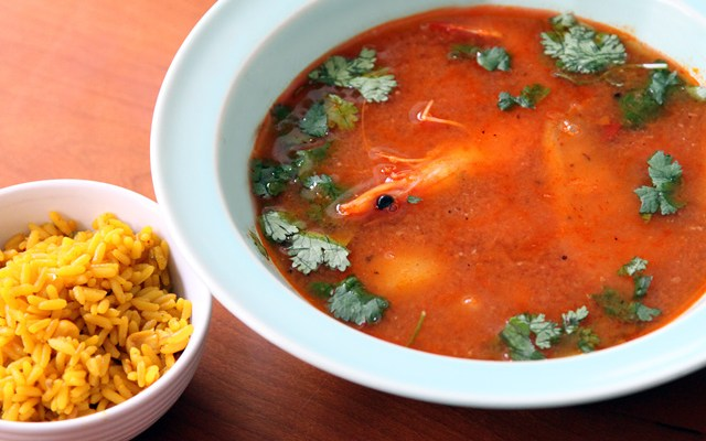 Mexican Shrimp and Fish Soup