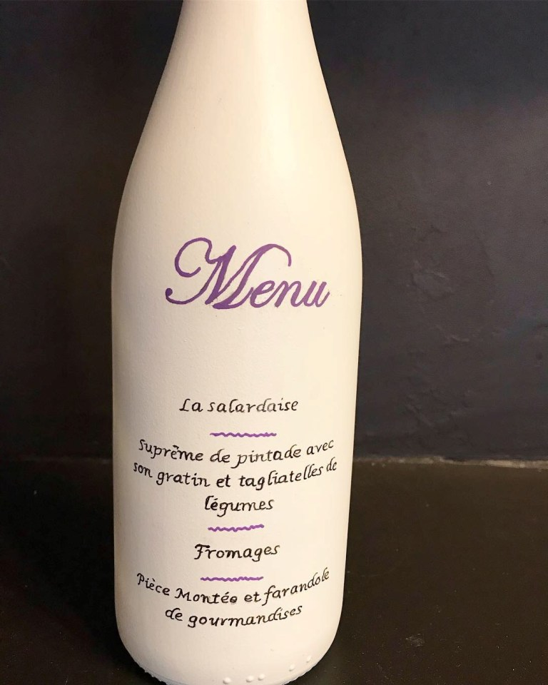 bouteille vase menu 9