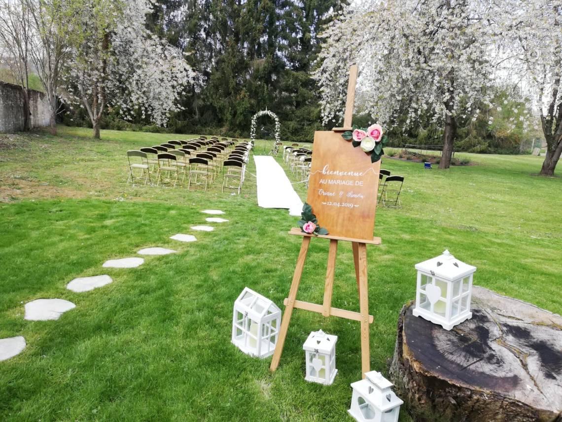 cérémonie laïque Mariage champetre romantique (10)