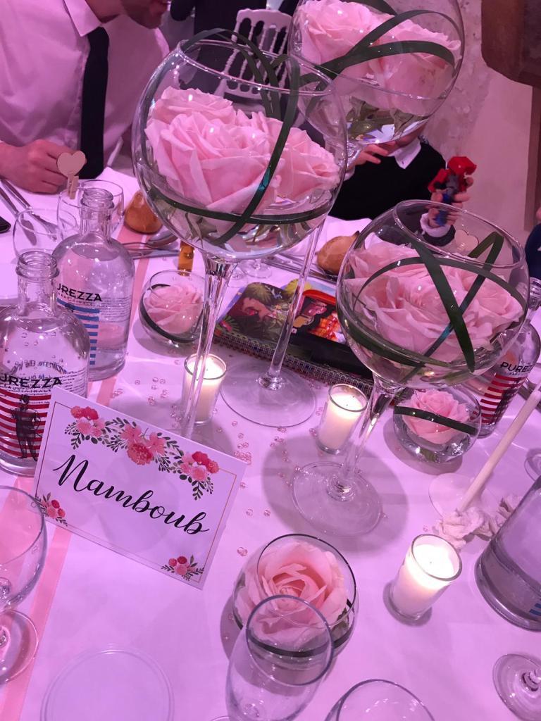 Décoration de table - Mariage champêtre romantique