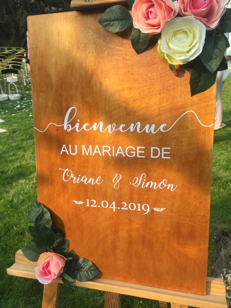 Panneau de Bienvenue - Champêtre romantique