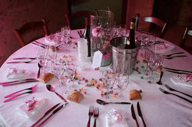 Décoration de table - Mariage Gourmand