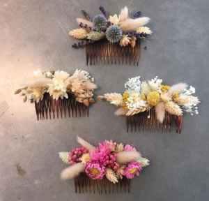 Peigne fleurs stabilisées 3