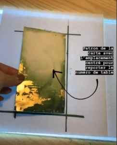 marque-tables aquarelle et feuilles d'or (4)