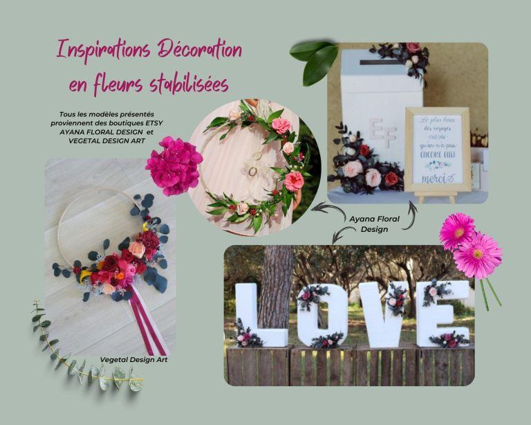 Inspirations Décoration en fleurs stabilisées