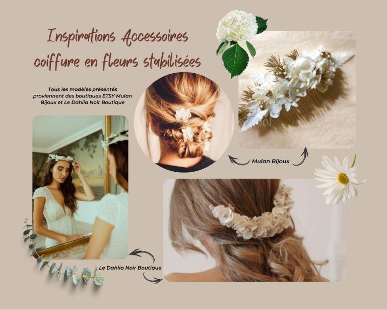 Inspirations Accessoires coiffure en fleurs stabilisées