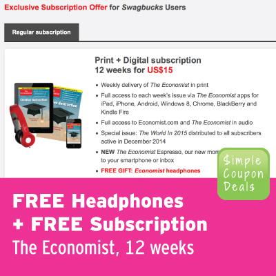 free subscription the economist