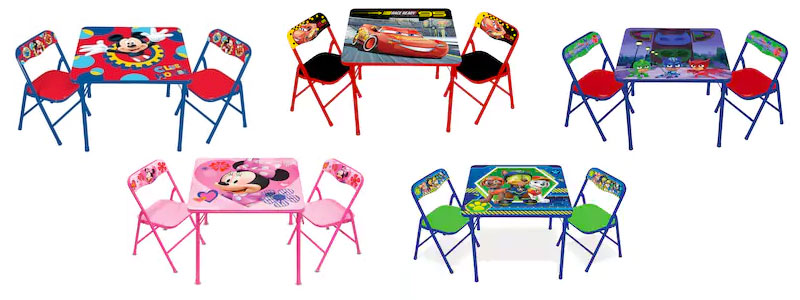 3 piece table and chair set folding fishing kid s 3pc activity 15 orig 40 free shipping today only 11 10 you can score these character chairs for as low 04 choose from mickey mouse minnie