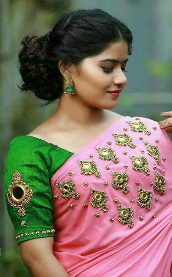 Different Types Of Designer Saree And Blouse Simple