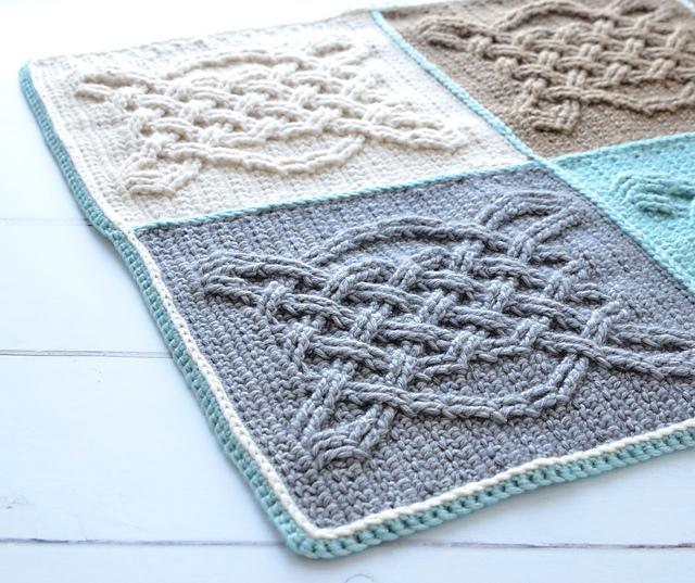Easy Free Pattern Crochet Celtic Tiles Blanket