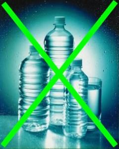 plastic water bottles cross