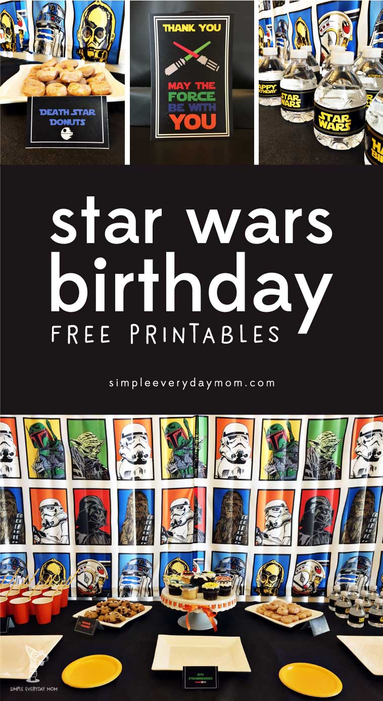 free star wars party printables