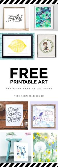 21 Free Printable Art Prints To Quickly Decorate The ...