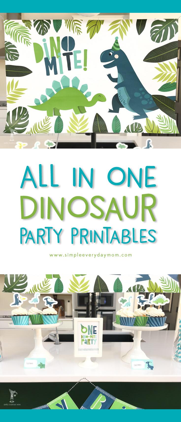 A Terrific T Rex Dinosaur Birthday Party Printable Pack