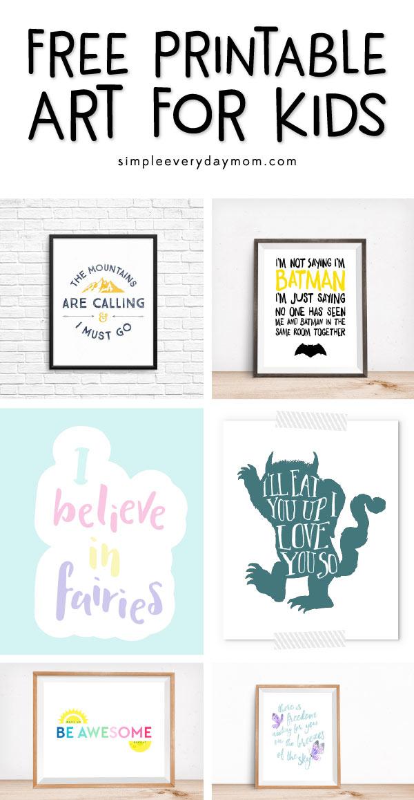 free nursery art prints