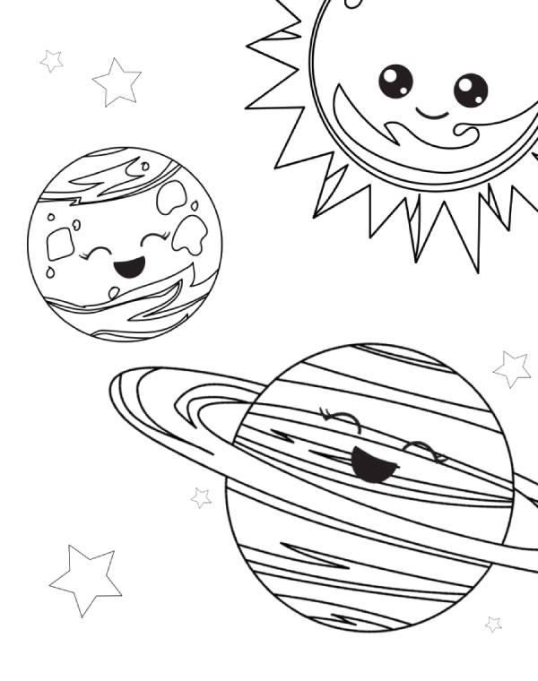 free printable space coloring