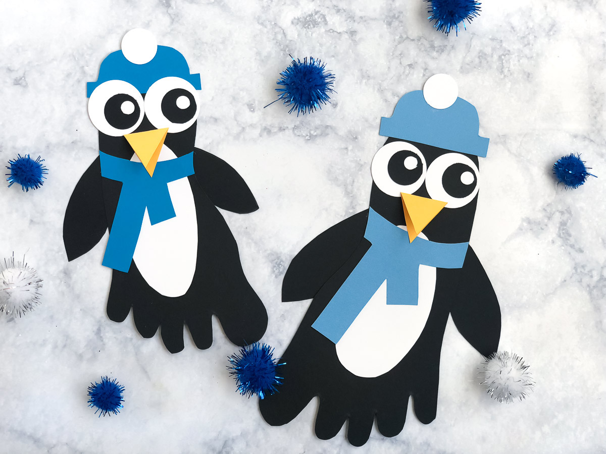 A Cute Footprint Penguin Craft For Kids