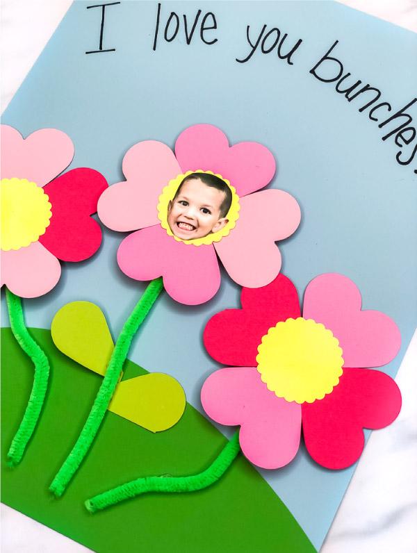 Flower Photo Preschool Craft