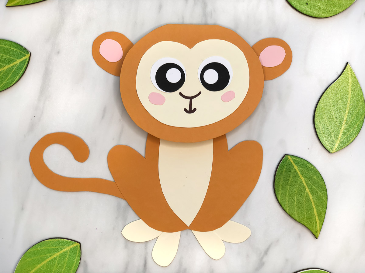Cute Monkey Craft For Kids With Free Printable Template