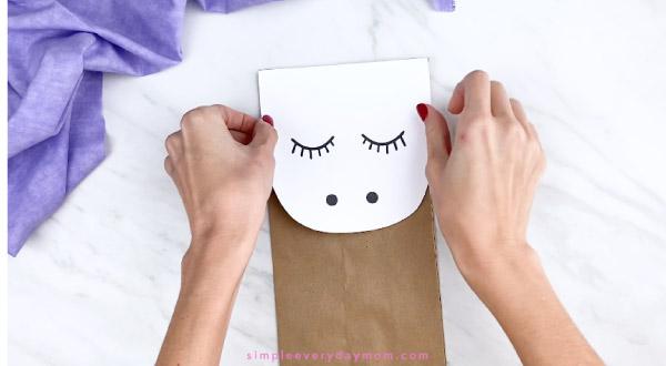Unicorn Paper Bag Puppet Craft
