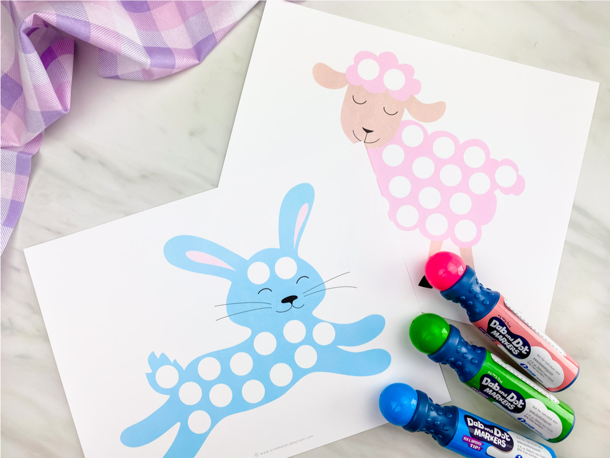 Easter Do A Dot Printables For Kids