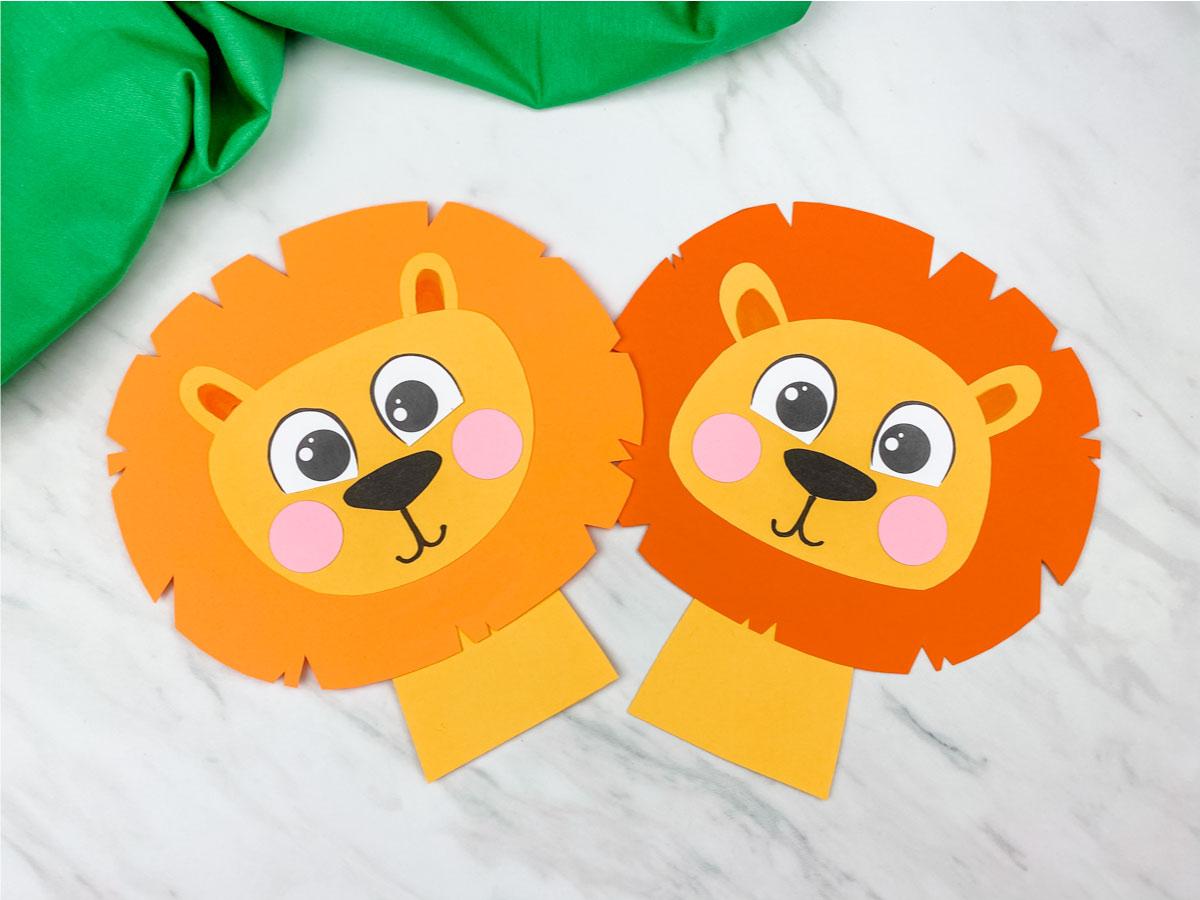 Easy Lion Craft For Preschool